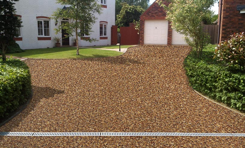 Autumn Chesnut resin driveway