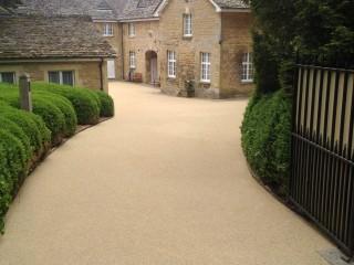 Cotswold village driveway