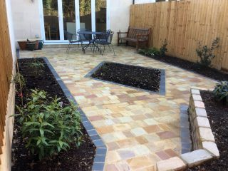 Indian cobbled patio in Bath