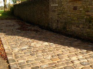 Large yorkshire cobbles in wick near Bristol
