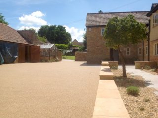 Resin driveway at Somerset farmhouse