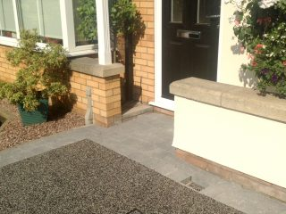 Resin driveway with block surround