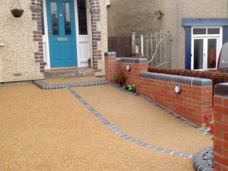 Terrace house in Bristol with new resin driveway