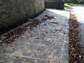 Cobble setts car lay-by completed in Wick
