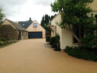 Stunning final resin driveway