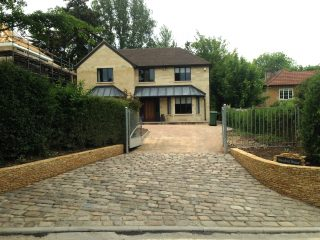 Traditional cobble stone entrance completed