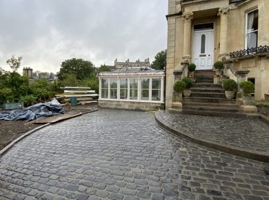 Bath Cobbled Driveway