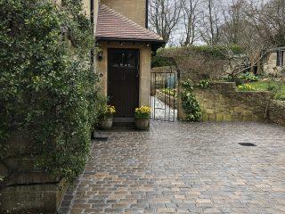 Cobble Driveway into Gully Bath