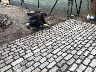 Fixing Last Cobbles Bristol Driveway