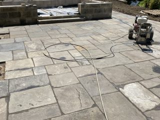 Reclaimed Pennant Paving Terrace Bath